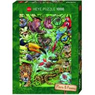 упаковка игры Пазл Обитатели тропического леса 1000 деталей