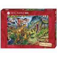 упаковка игры Пазл Динозавры-хищники 500 деталей