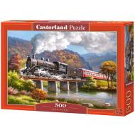упаковка игры Пазл Паровоз в горах 500 элементов Castorland
