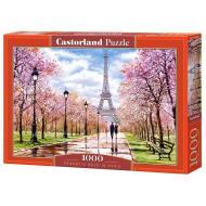 упаковка игры Пазл Романтическая прогулка в Париже 1000 элементов Castorland