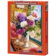 упаковка игры Пазл Натюрморт с гортензиями 1000 элементов Castorland