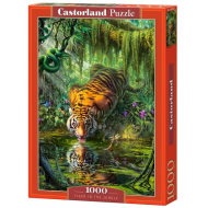 упаковка игры Пазл Тигр в джунглях 1000 элементов Castorland