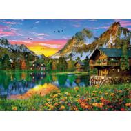упаковка игры Пазл «Озеро в Альпах» 1500 элементов