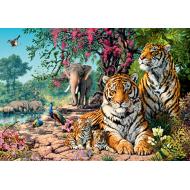 упаковка игры Пазл «Тигры» 1500 элементов