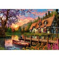 упаковка игры Пазл «Закат на озере в лесу» 4000 элементов