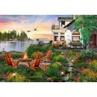 упаковка игры Пазл «Дом у реки» 4000 элементов