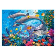 упаковка игры Пазл Секреты рифа 1500 элементов Castorland