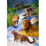 упаковка игры Пазл Дикие кошки 1000 элементов Castorland