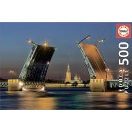 упаковка игры Пазл Развод Дворцового моста в Санкт-Петербурге 500 элементов Educa
