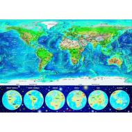 упаковка игры Пазл Неоновая карта мира 1000 элементов Educa