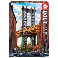 упаковка игры Пазл Манхэттенский мост, Нью-Йорк 1000 элементов Educa