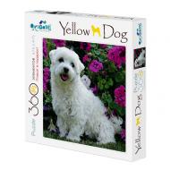 упаковка игры Пазл Собачка и цветы 360 элементов + плакат