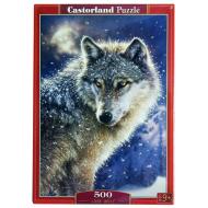 упаковка игры Пазл Волк 500 элементов Castorland