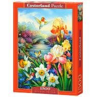 упаковка игры Пазл Золотые ирисы 1500 элементов Castorland