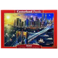 упаковка игры Пазл Бруклинский мост 500 элементов Castorland