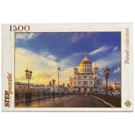 упаковка игры Пазл Храм Христа Спасителя 1500 элементов Step Puzzle