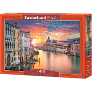 упаковка игры Пазл Венеция на закате 500 элементов Castorland