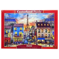 упаковка игры Пазл Улицы Парижа 500 элементов Castorland