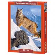упаковка игры Пазл Рысь в горах 1000 элементов Castorland