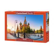 упаковка игры Пазл Собор Василия Блаженного 500 элементов Castorland