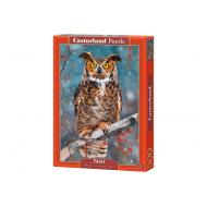 упаковка игры Пазл Большая рогатая сова 500 элементов Castorland
