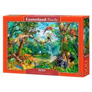 упаковка игры Пазл Жизнь в джунглях 500 элементов Castorland