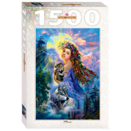 упаковка игры Пазл На рассвете 1500 элементов Step Puzzle