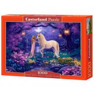 упаковка игры Пазл Единорог в саду 1000 элементов Castorland
