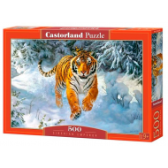 упаковка игры Пазл Амурский тигр 500 элементов Castorland