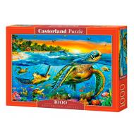 упаковка игры Пазл Подводные черепахи 1000 элементов Castorland