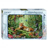упаковка игры Пазл Авторская коллекция Тигр в джунглях 1000 элементов Step Puzzle