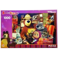 упаковка игры Пазл Маша и Медведь 1000 элементов Step Puzzle