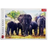упаковка игры Пазл Африканские слоны 1000 элементов Trefl
