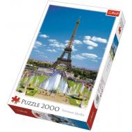 упаковка игры Пазл Эйфелева башня 2000 элементов Trefl
