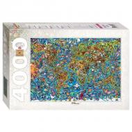 упаковка игры Пазл Карта мира 4000 элементов Step Puzzle