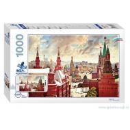 упаковка игры Пазл Родной край Москва 1000 элементов Step Puzzle
