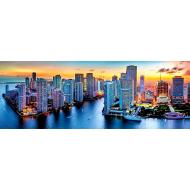 упаковка игры Пазл Майами в сумерки панорамный 1000 элементов Trefl