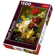 упаковка игры Пазл Натюрморт с цветами 1500 элементов Trefl
