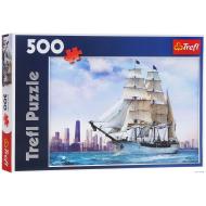 упаковка игры Пазл Парусник на фоне Чикаго 500 элементов Trefl