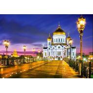 упаковка игры Пазл Храм Христа Спасителя Москва 1000 элементов Castorland