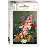 упаковка игры Пазл Букет 1000 элементов Step Puzzle