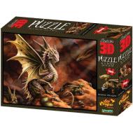 упаковка игры Пазл Super 3D Пустынный дракон 500 деталей