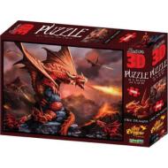 упаковка игры Пазл Super 3D Огненный дракон 500 деталей