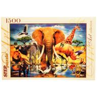 упаковка игры Пазл В мире животных 1500 элементов Step Puzzle