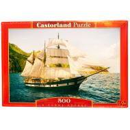 упаковка игры Пазл Парусник 500 элементов Castorland