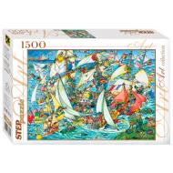 упаковка игры Пазл Всем в море! 1500 элементов Step Puzzle