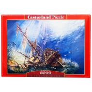 упаковка игры Пазл Затонувший корабль 2000 элементов Castorland