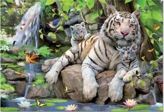 Пазл Белые Бенгальские Тигры Educa