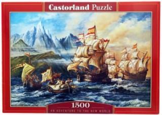Пазл Приключения в Новом Свете 1500 элементов Castorland