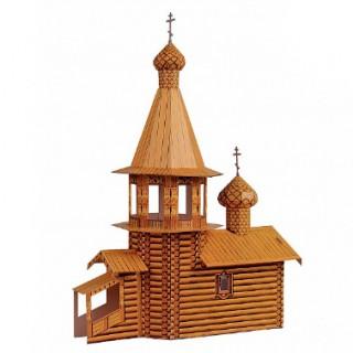 Церковь деревянная Умная бумага
